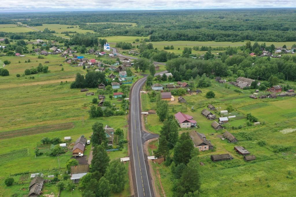 Два участка дороги Данилов – Пошехонье отремонтированы благодаря нацпроекту
