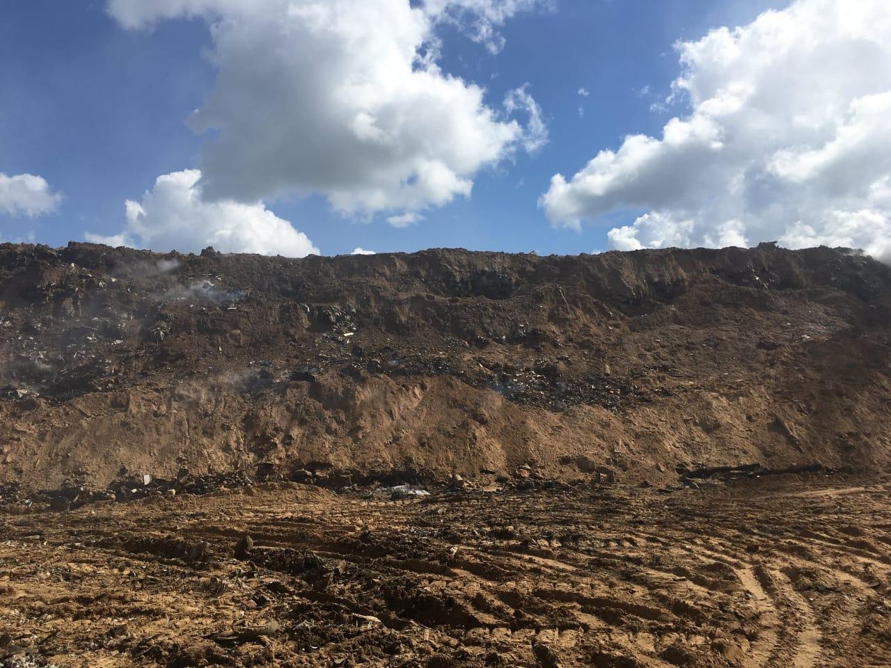 На полигоне в Гаврилов-Яме закончили тушить тлеющие участки