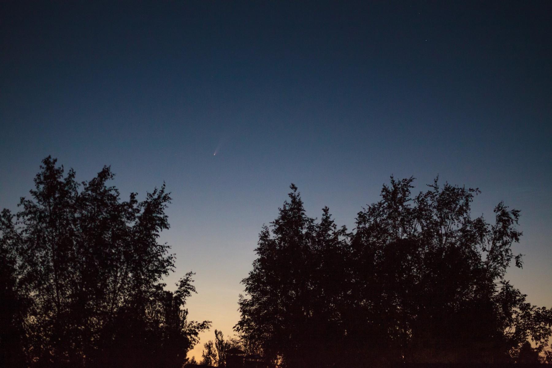 Рыбинский фотограф запечатлел самую яркую комету за последние семь лет
