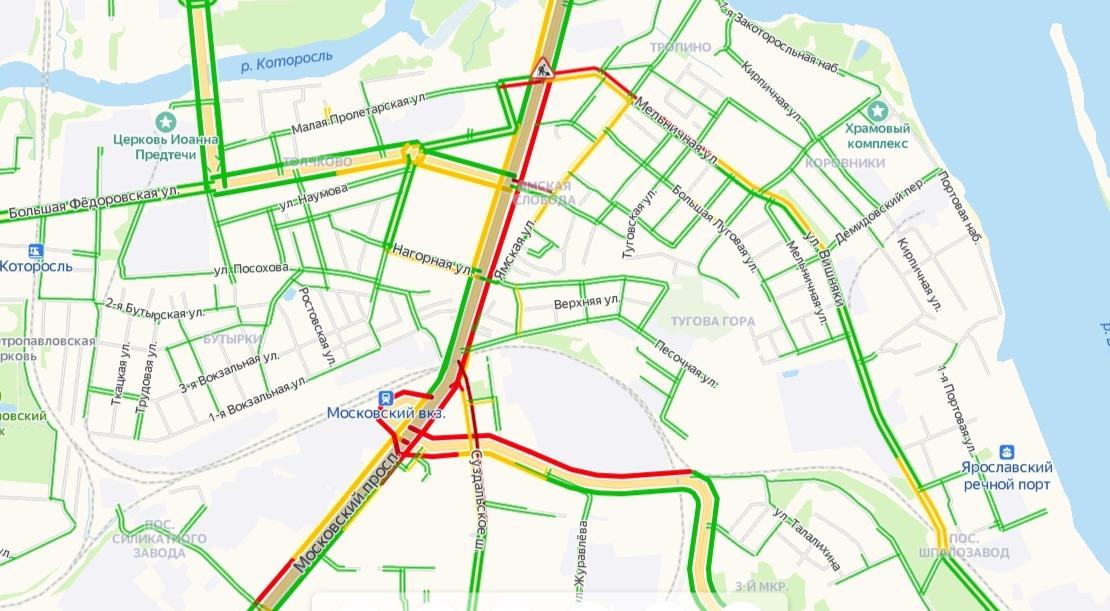 Движение на Московском проспекте в Ярославле будет ограничено два дня