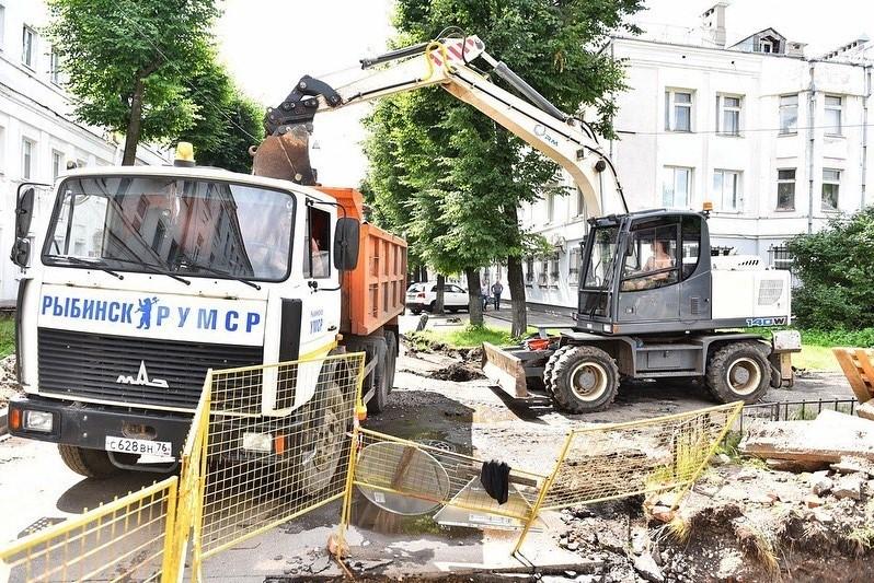 В Ярославле ремонтируют улицу Максимова, включенную в проект «Улица Победы»