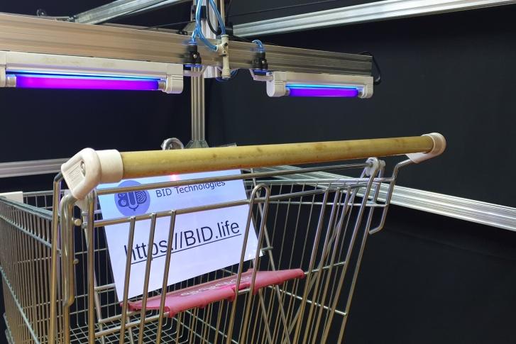В Ярославле придумали робота для дезинфекции ручек тележек в магазинах