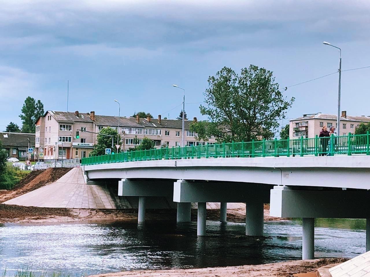 Дмитрий Миронов: в Большом Селе после капитального ремонта открыли мост через Юхоть