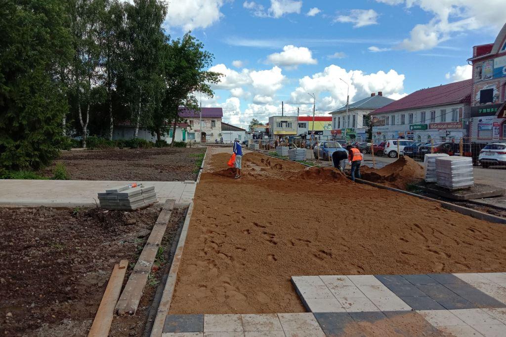 Благоустройство Советской площади в Данилове планируют завершить в сентябре