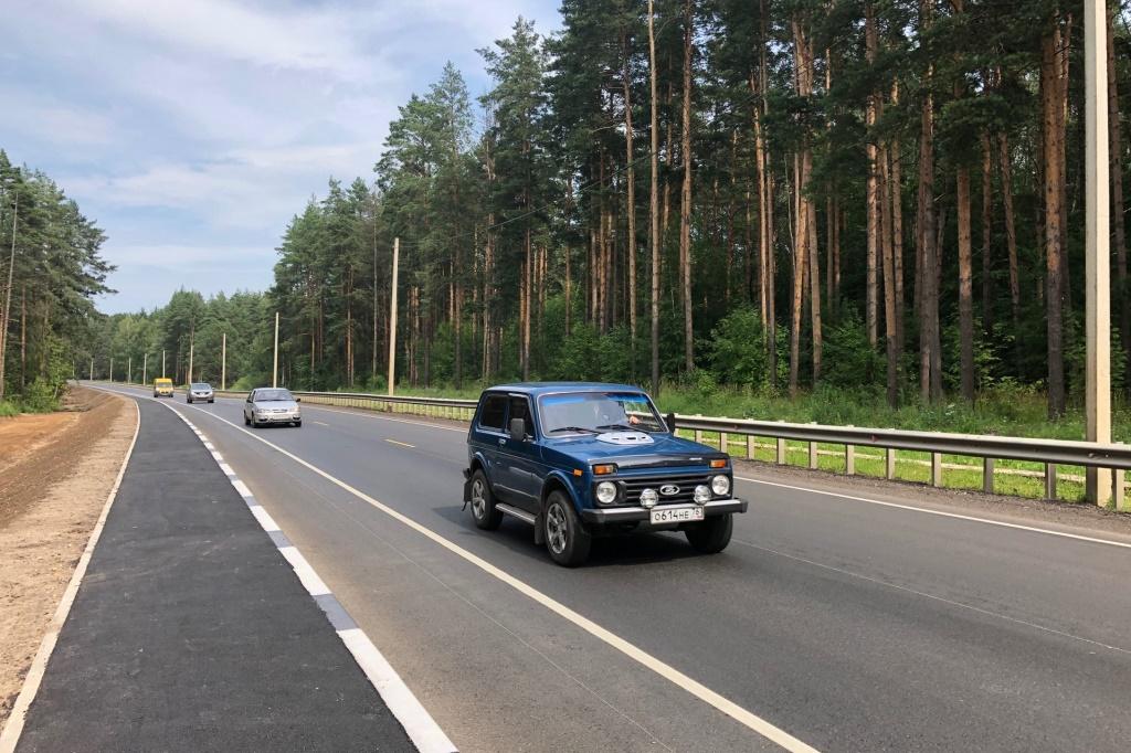 Участок дороги Ярославль-Любим до Игнатовского кладбища отремонтировали по нацпроекту