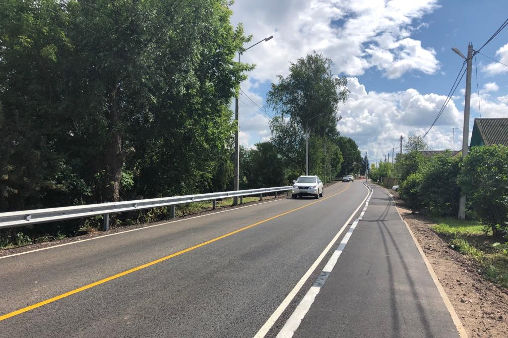 В Некрасовском районе Ярославской области отремонтировали дорогу до Диево-Городища