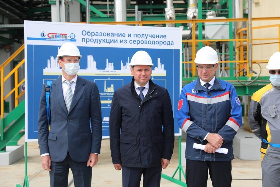 Дмитрий Миронов принял участие в пуске новой установки «Славнефть-ЯНОС»