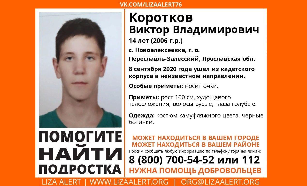 В Ярославской области ищут пропавшего подростка в очках