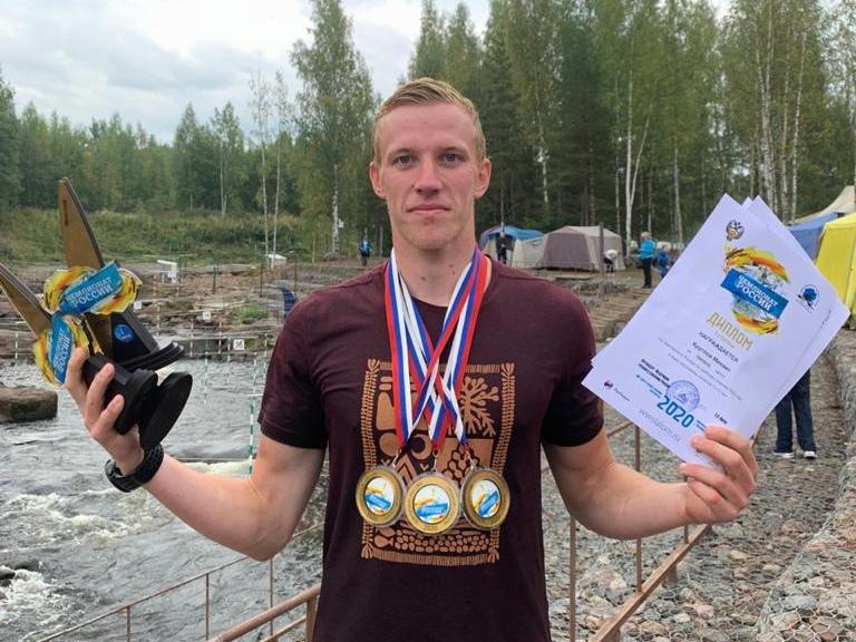 Ярославец завоевал золото чемпионата России по гребному слалому