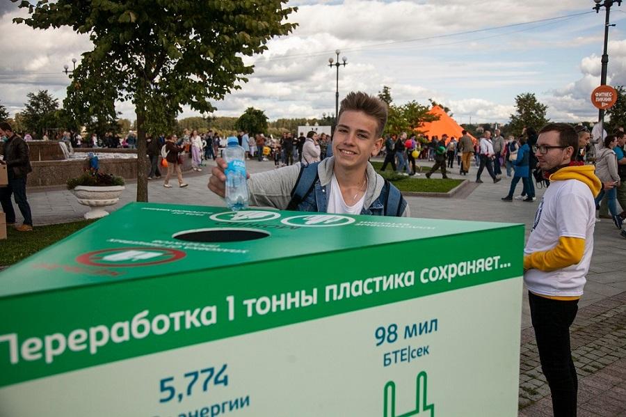 25 тысяч бутылок и банок собрали для вторичной переработки участники фестиваля «Пир на Волге»