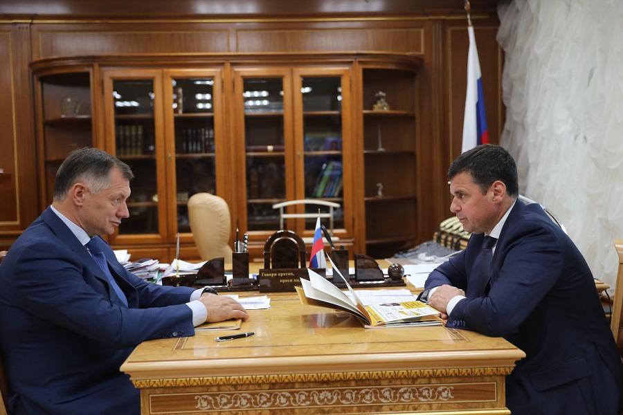 Губернатор Дмитрий Миронов и вице-премьер РФ Марат Хуснуллин обсудили реализацию нацпроектов в Ярославской области