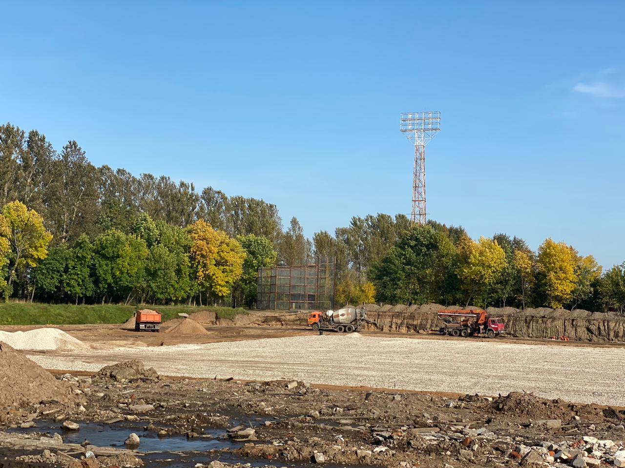 Реконструкцию стадиона «Сатурн» в Рыбинске планируют завершить осенью следующего года