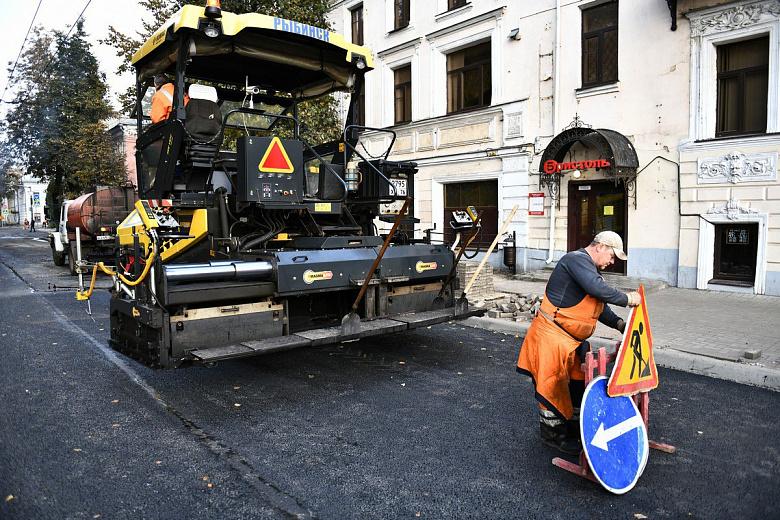 В течение недели в Ярославле завершат ремонт улицы Пушкина
