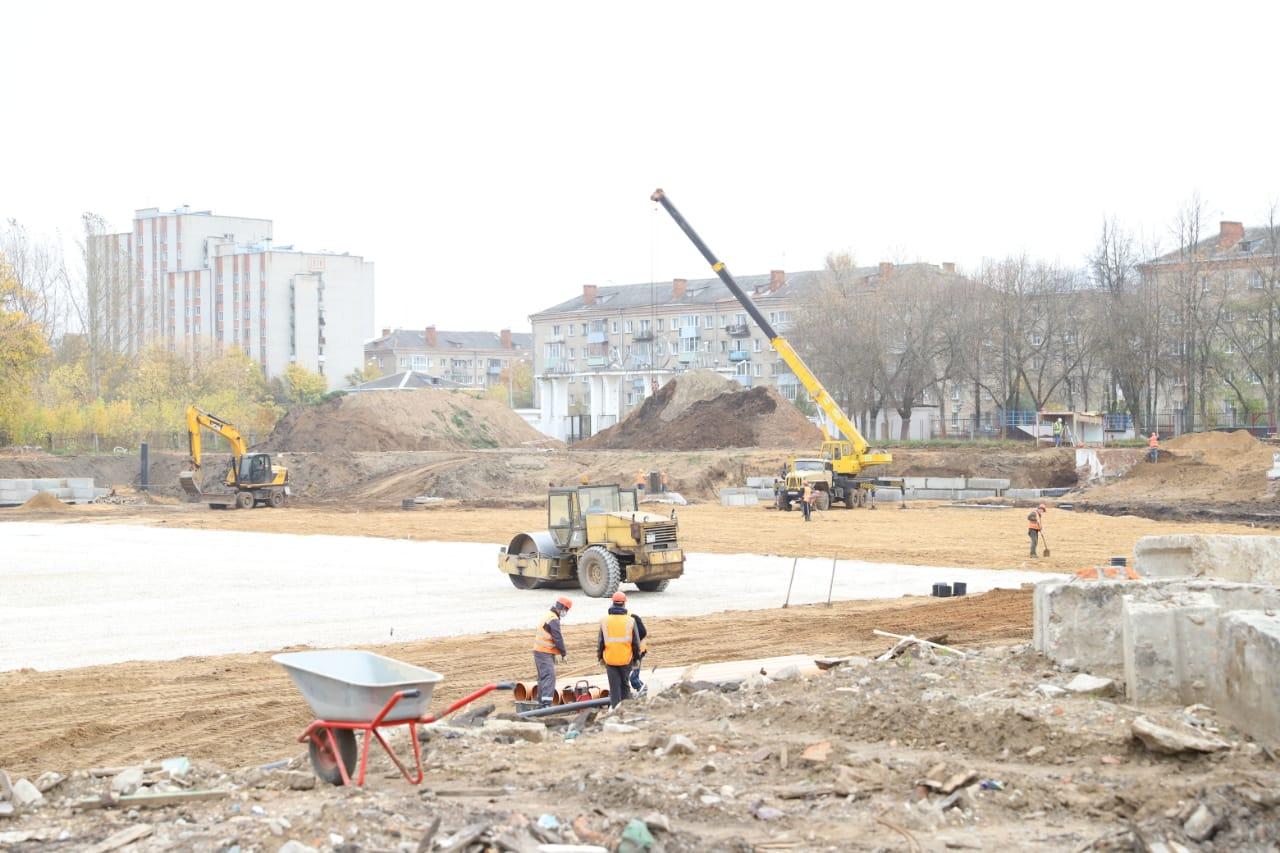 Реконструкция стадиона «Сатурн» в Рыбинске идет в соответствии с графиком