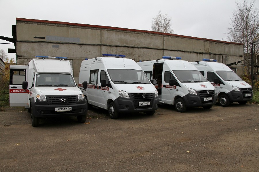 В Рыбинске станция скорой помощи получила четыре новых автомобиля