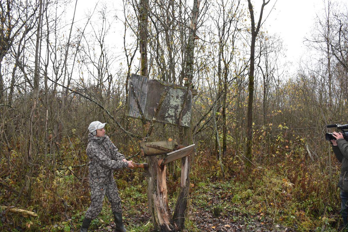 В охотугодьях Ярославского региона демонтируют браконьерские солонцы