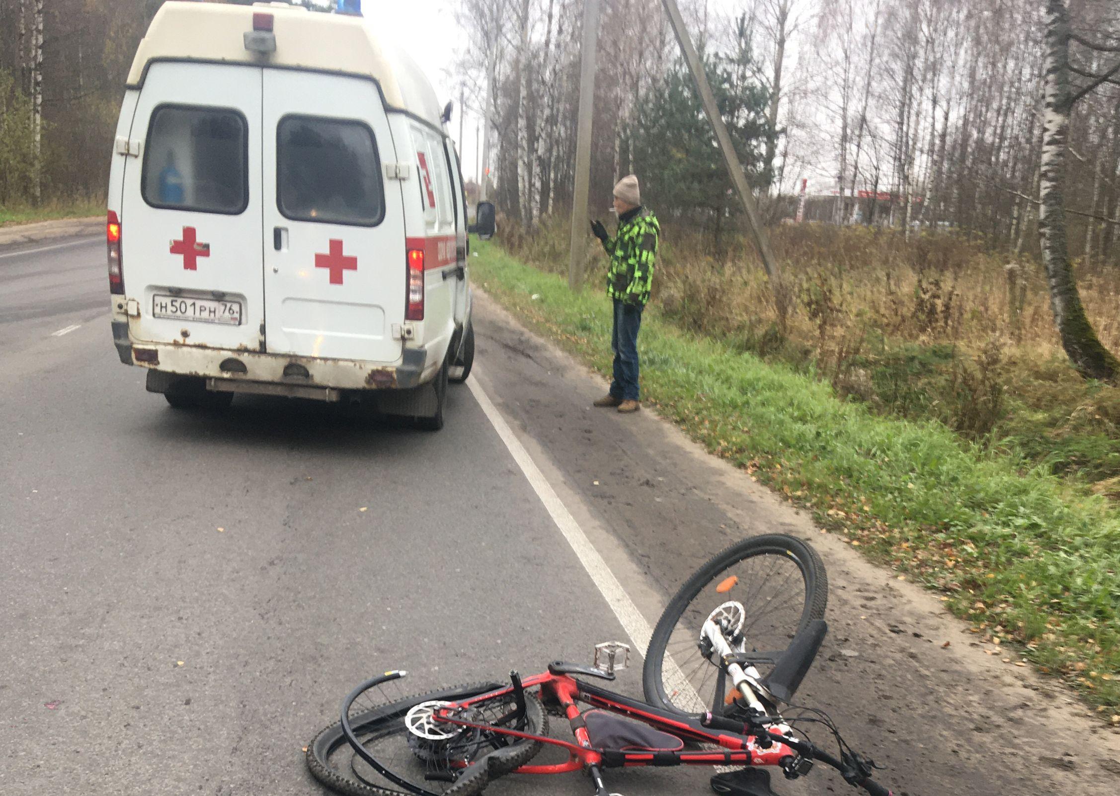 В Рыбинске водитель без прав сбил велосипедиста и скрылся