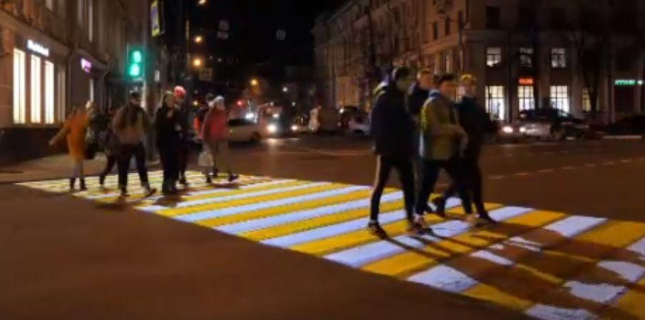 В центре Ярославля появился необычный пешеходный переход