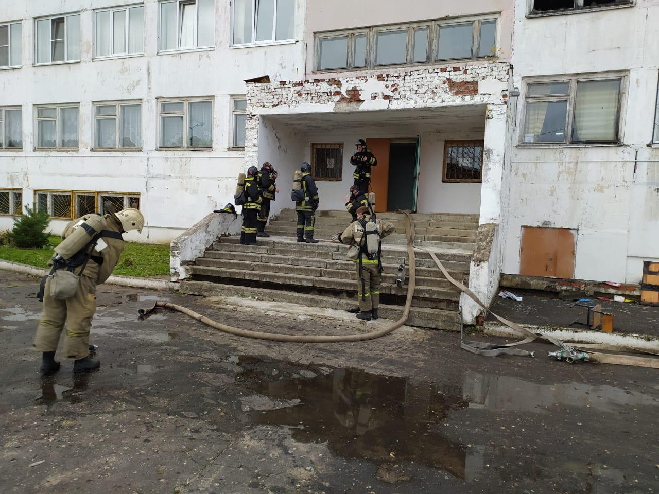 В Рыбинске произошел пожар в школе