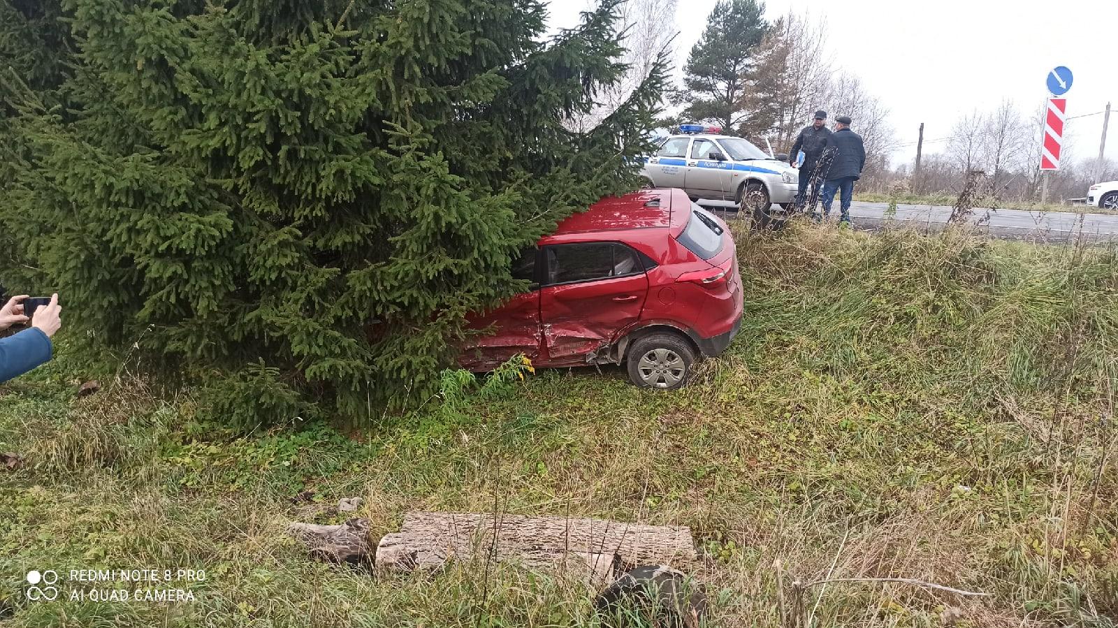 В результате столкновения двух иномарок в Рыбинске пострадали два человека