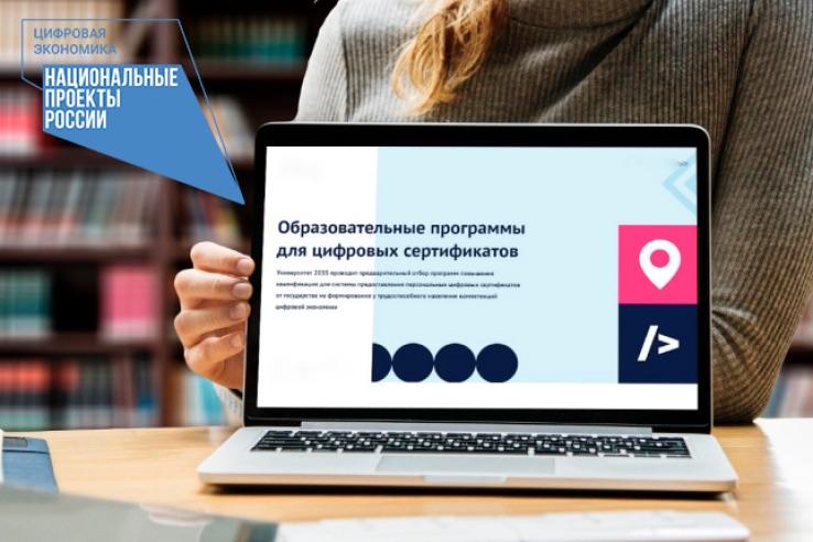 Более 1300 жителей области получили федеральные цифровые сертификаты для бесплатного обучения
