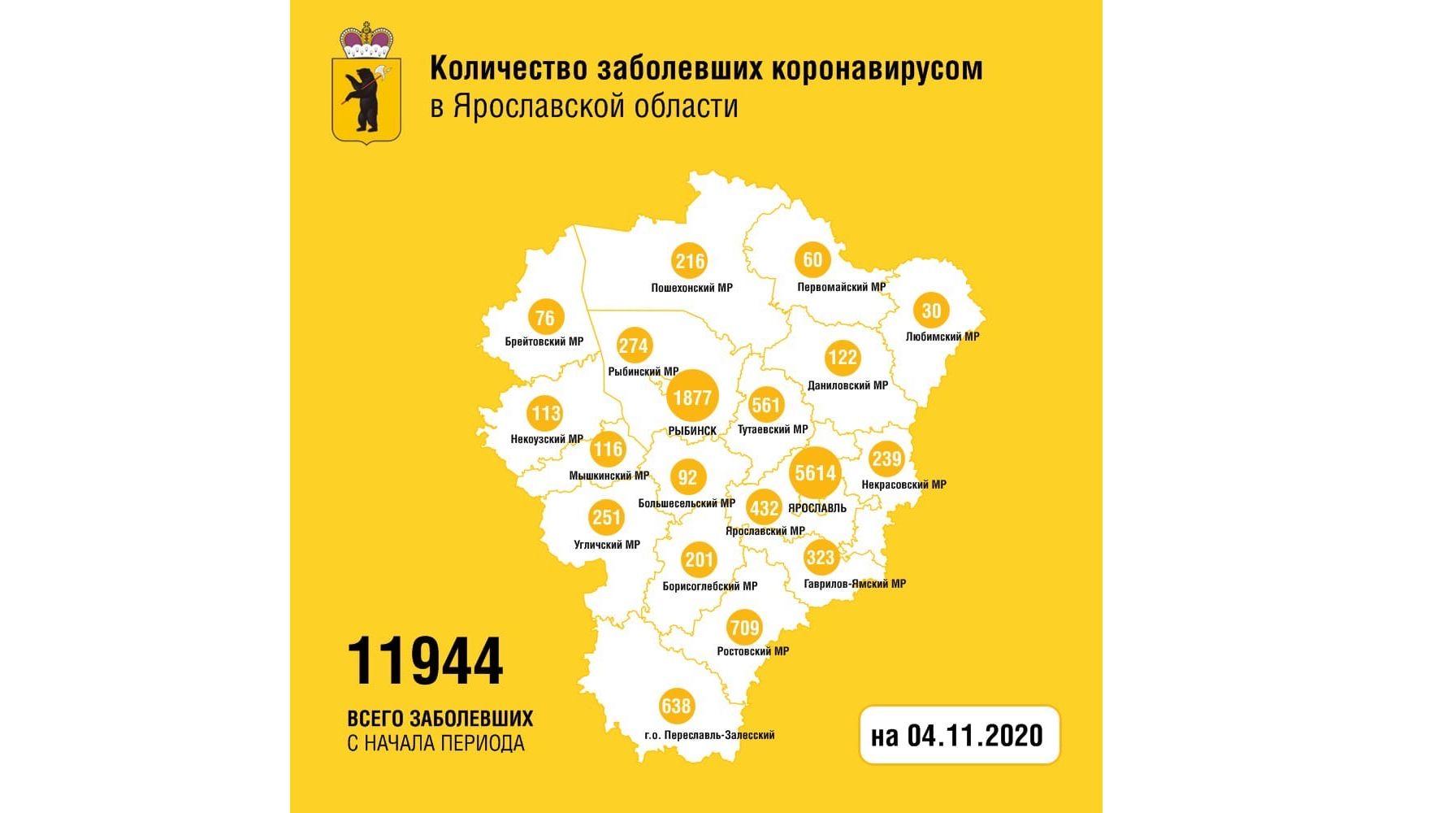 В Ярославской области вылечили от коронавируса 203 человека, одна женщина умерла