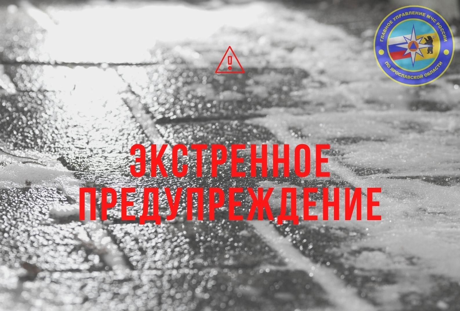 МЧС предупредило жителей Ярославской области о гололедице
