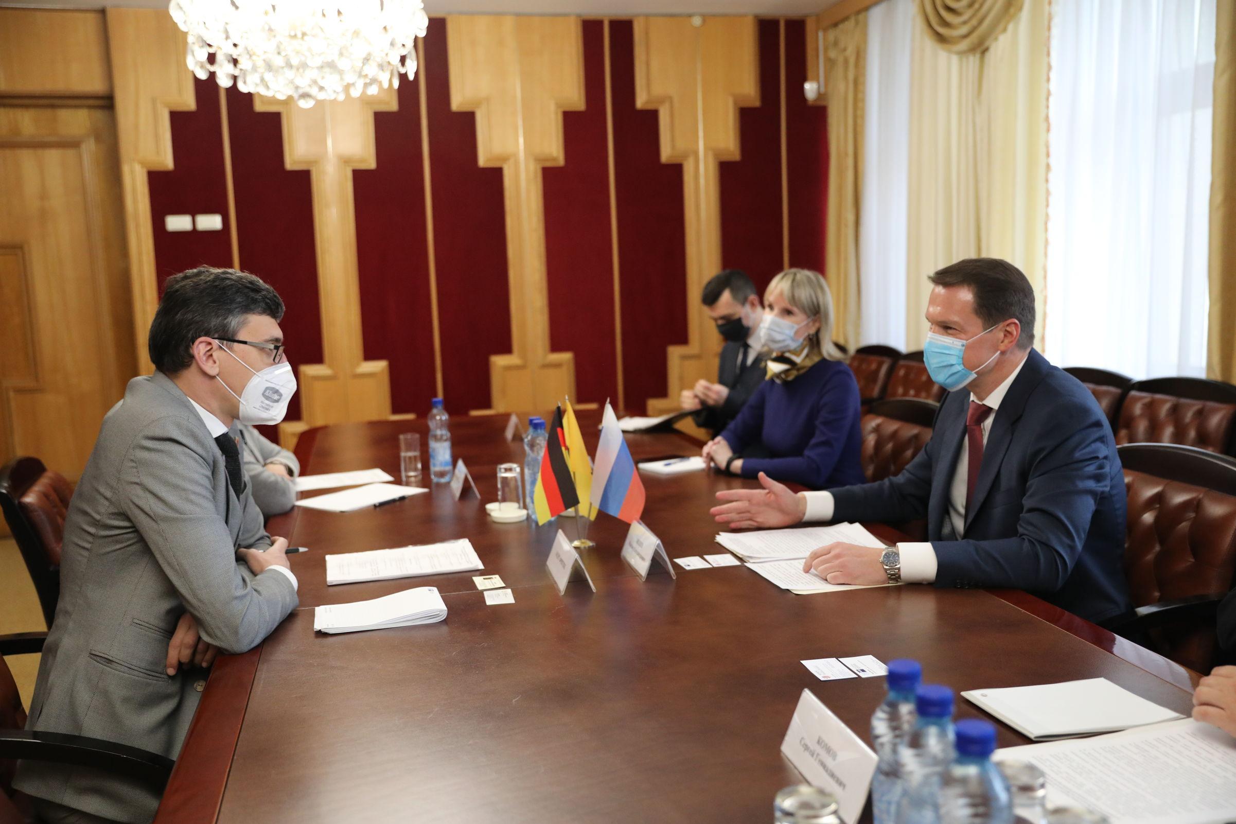 Ярославская область и Германия намерены развивать торгово-экономическое сотрудничество