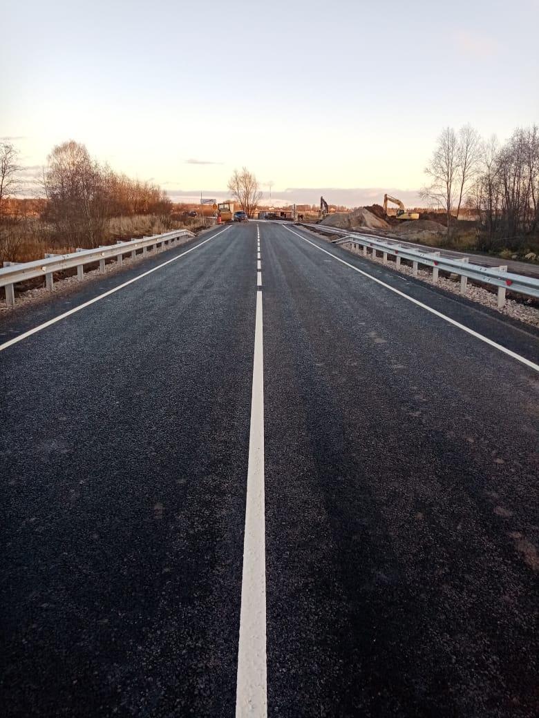 Деревянный мост через реку Кондру на автодороге Глебовское – Тарантаево заменили на современный