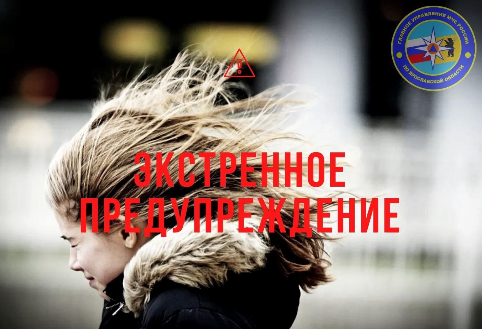 В Ярославской области МЧС опубликовало экстренное предупреждение