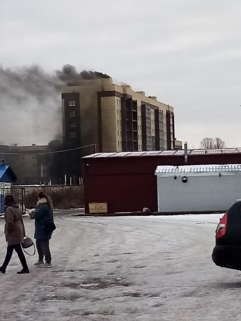 В Ярославле произошел пожар в строящемся доме