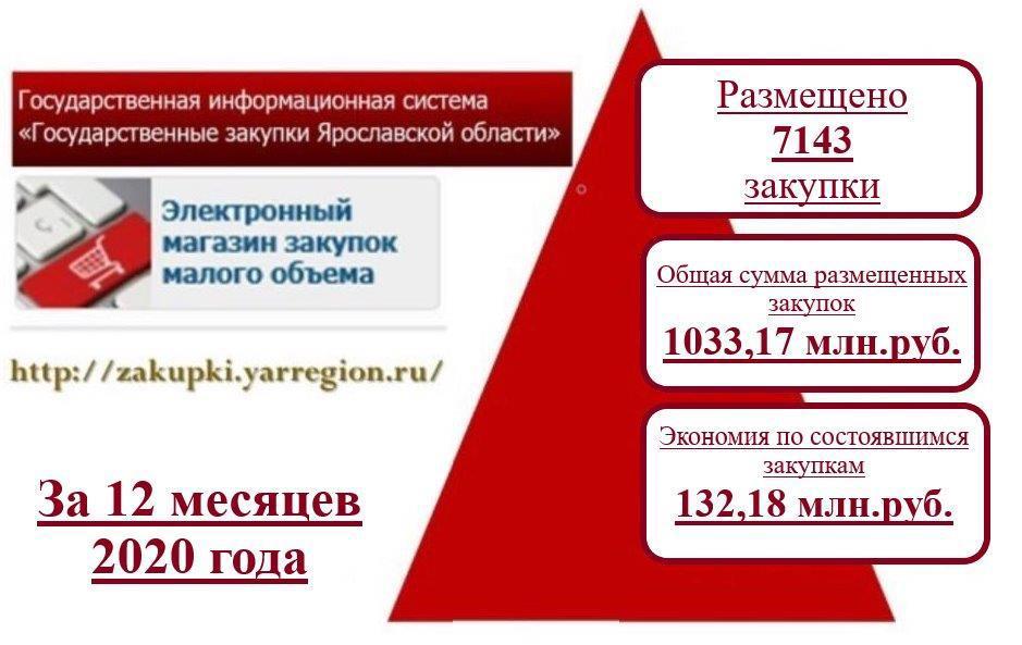Экономия бюджетных средств при проведении закупок малого объема в 2020 году превысила 130 млн рублей