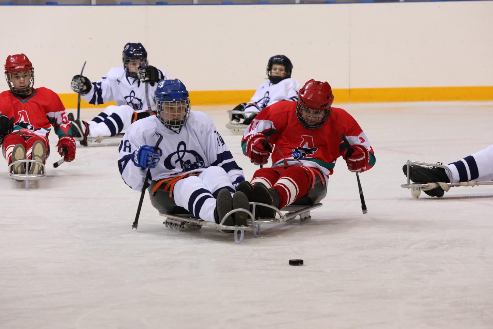 Дмитрий Миронов посетил первый матч по следж-хоккею в Ярославле: фото