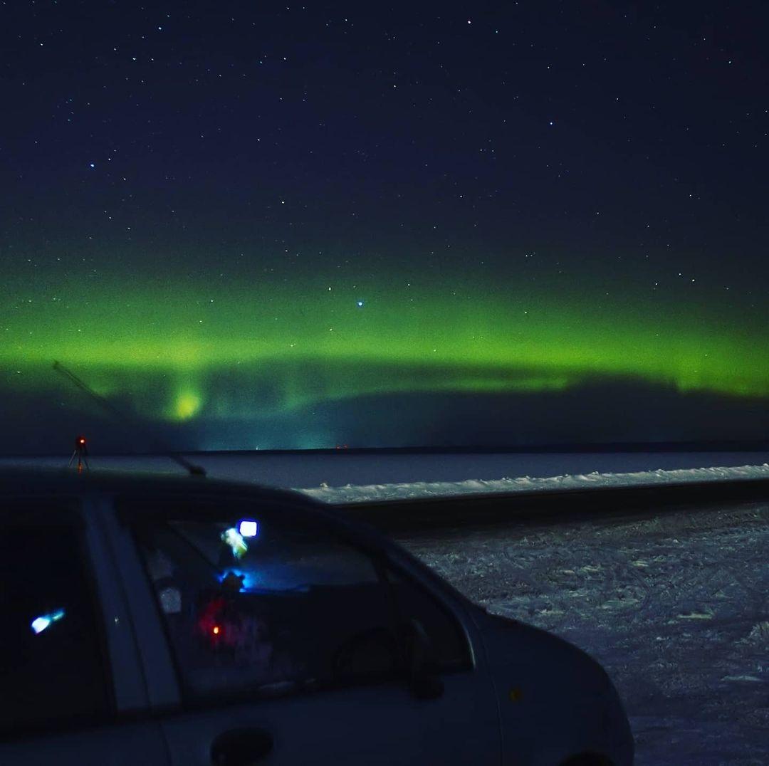 В сети появилось фото северного сияния над Рыбинским водохранилищем