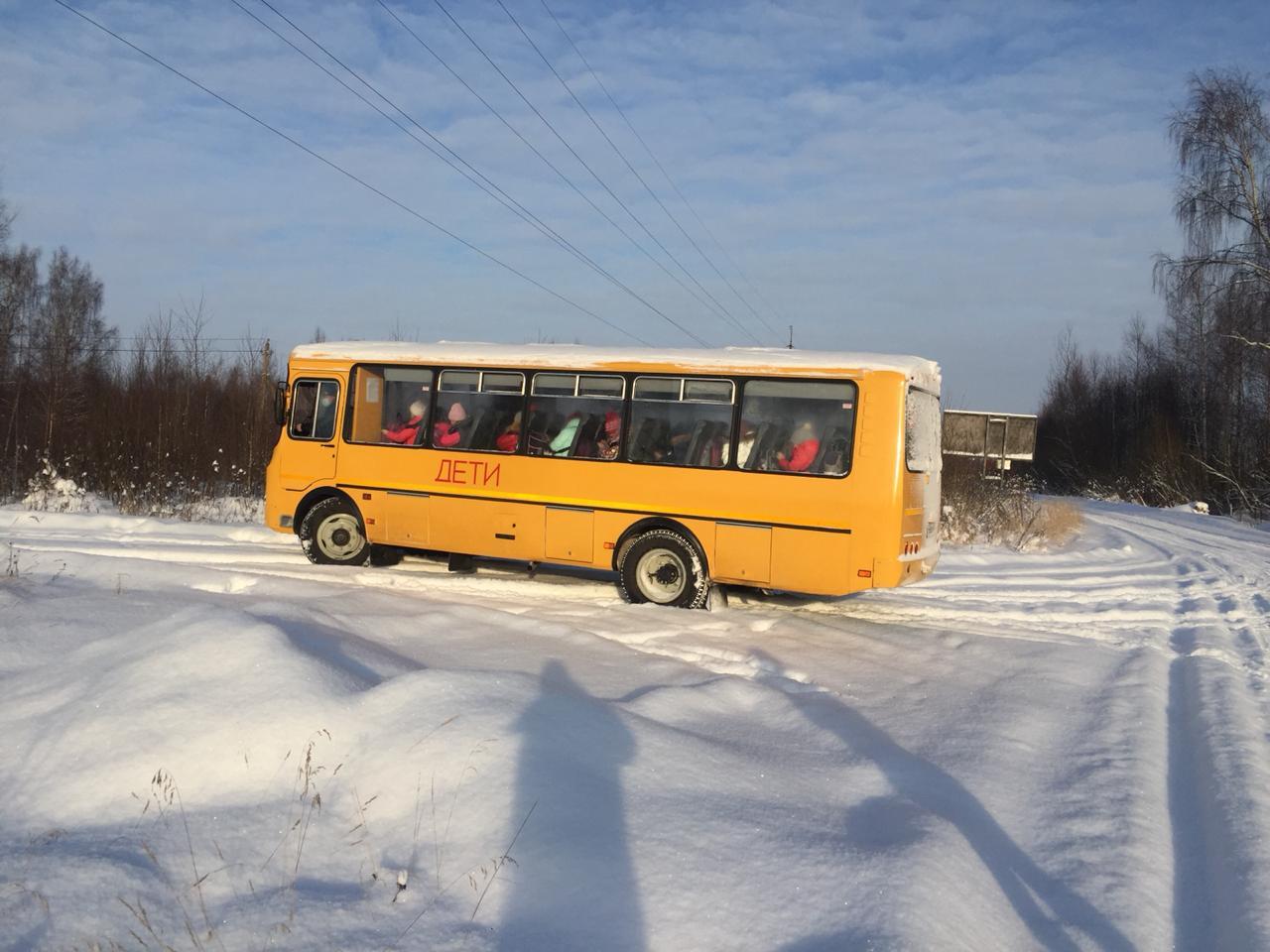 Сельских школьников доставляют к месту учебы на новых автобусах