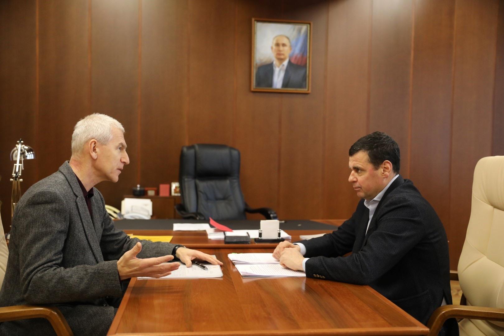 Олег Матыцин и Дмитрий Миронов обсудили перспективные для Ярославской области направления развития спорта