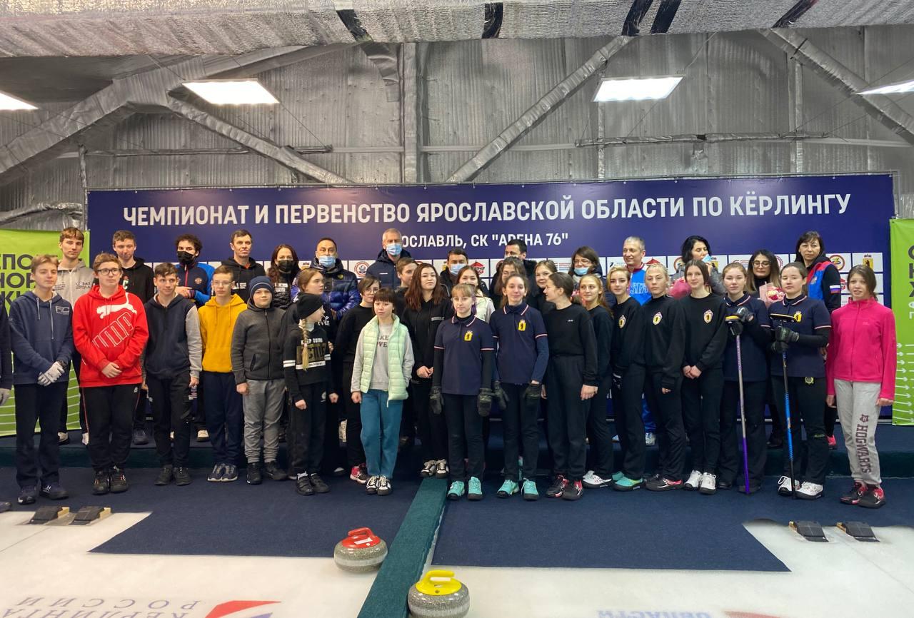 Дмитрий Миронов и Олег Матыцин посетили чемпионат и первенство Ярославской области по керлингу
