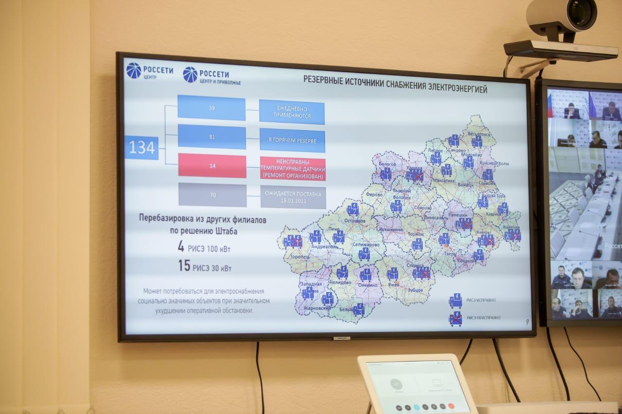 Игорь Маковский провел Штаб в Твери по повышению надёжности электросетевого комплекса региона