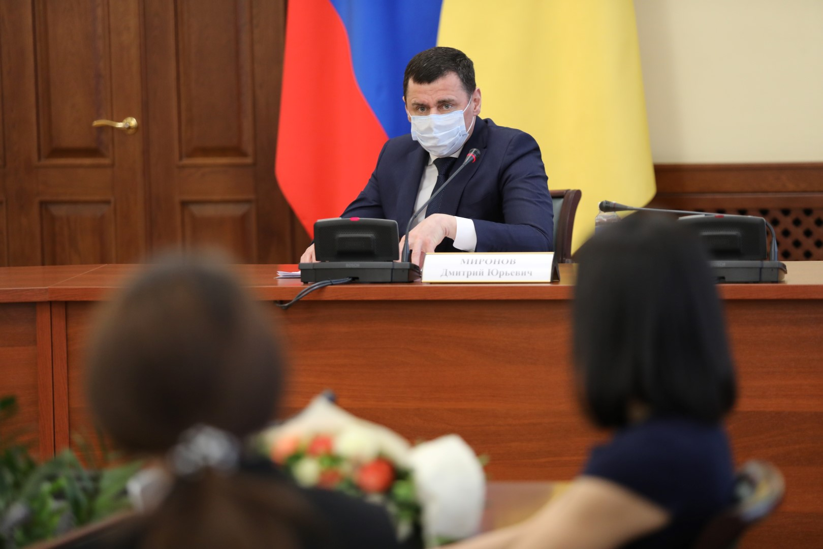 Дмитрий Миронов вручил благодарности активным студентам региона