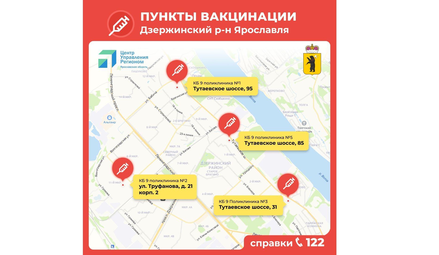 Дмитрий Миронов назвал места в Ярославской области, где можно сделать прививку от коронавируса