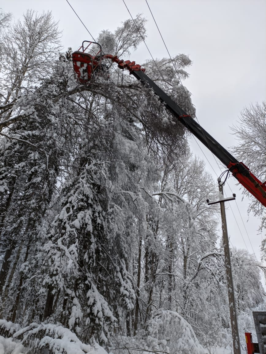 Энергетики Ярославской области устраняют нарушения электроснабжения, связанные с ухудшением погоды