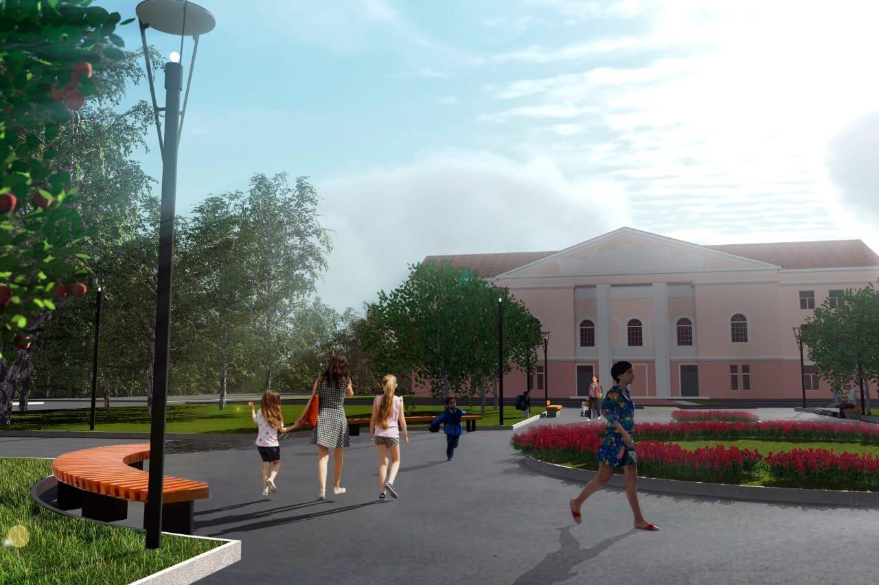 Опубликован план преображения Комсомольской площади в Рыбинске