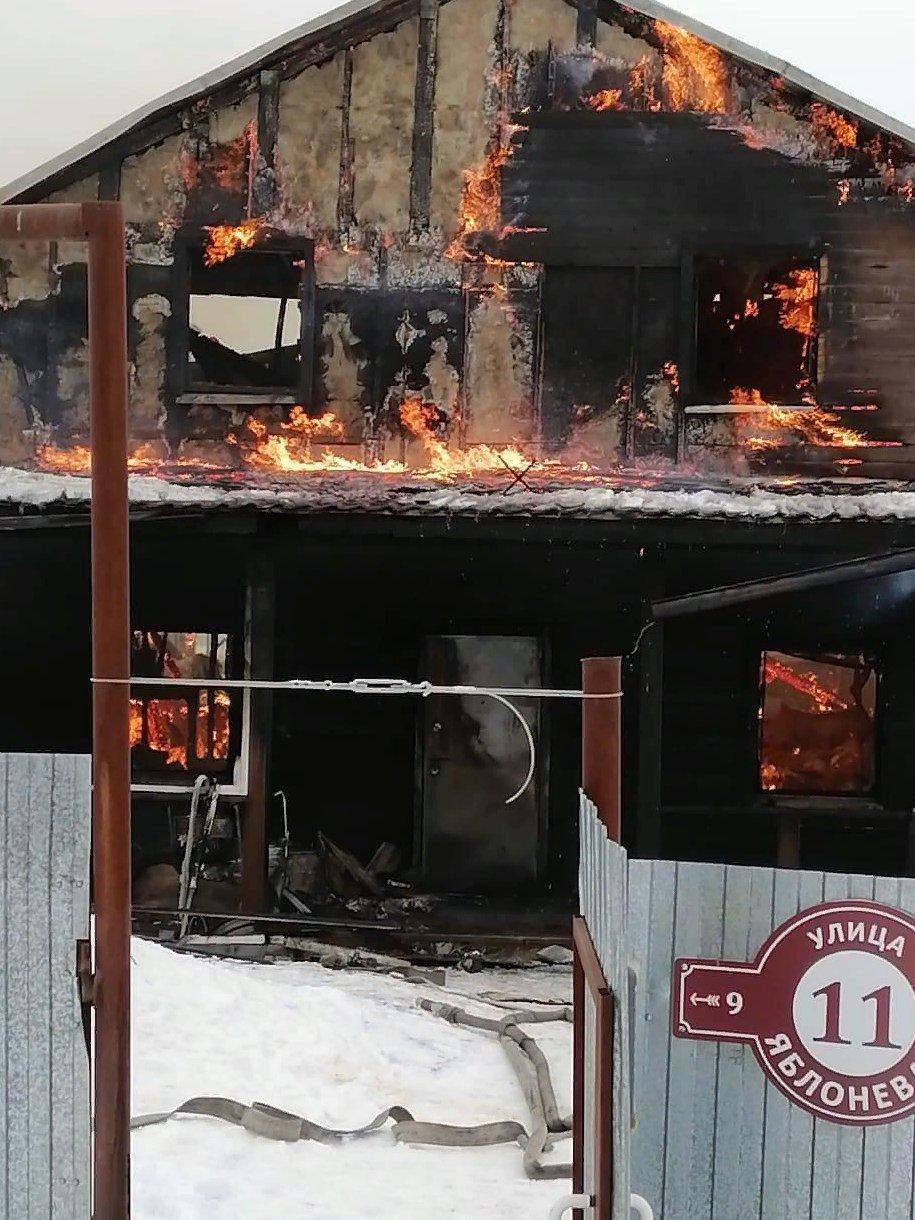 В Ярославском районе при пожаре погиб мужчина