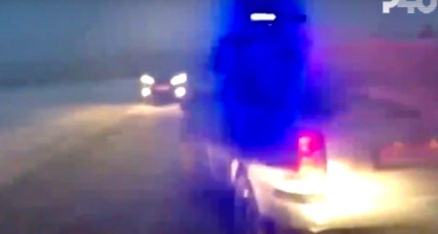 В Рыбинске пьяный водитель повредил две патрульные машины