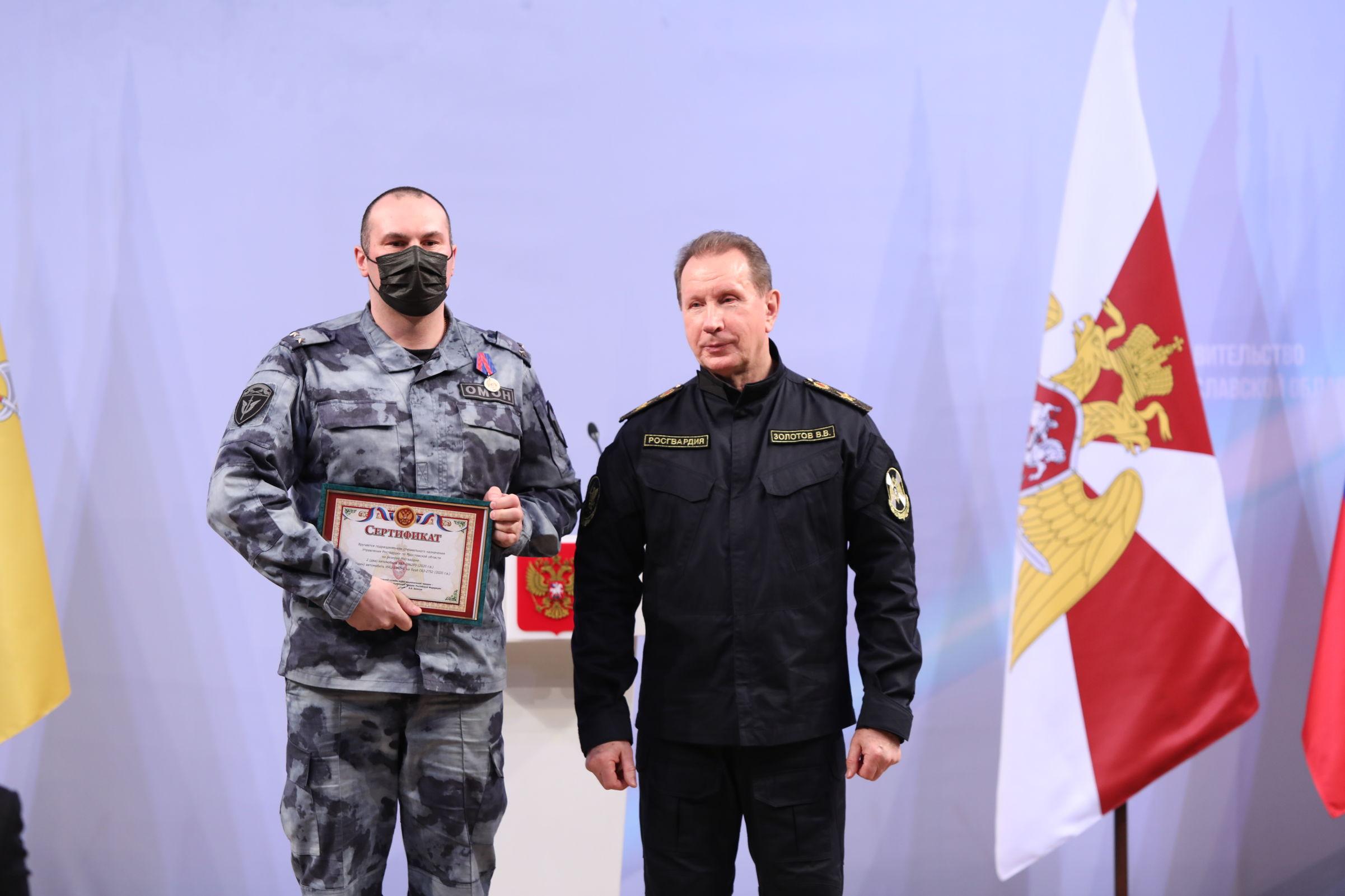Дмитрий Миронов и Виктор Золотов вручили награды сотрудникам Росгвардии