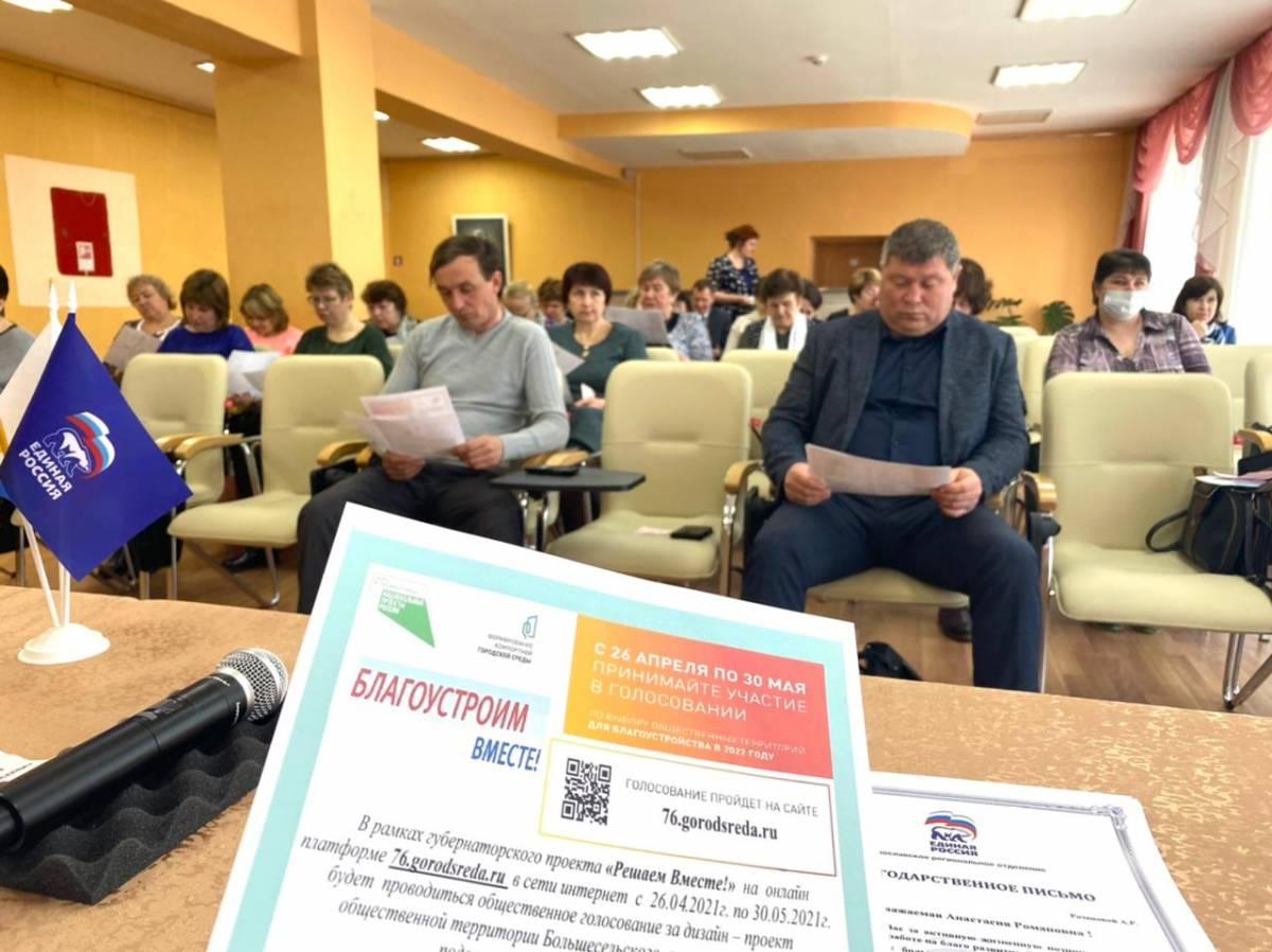 Ольга Хитрова провела встречу с жителями по вопросу благоустройства в Большесельском районе