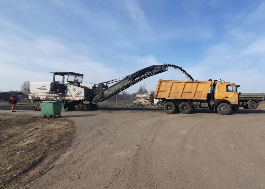 Началась регенерация покрытия на дороге Данилов – Пошехонье