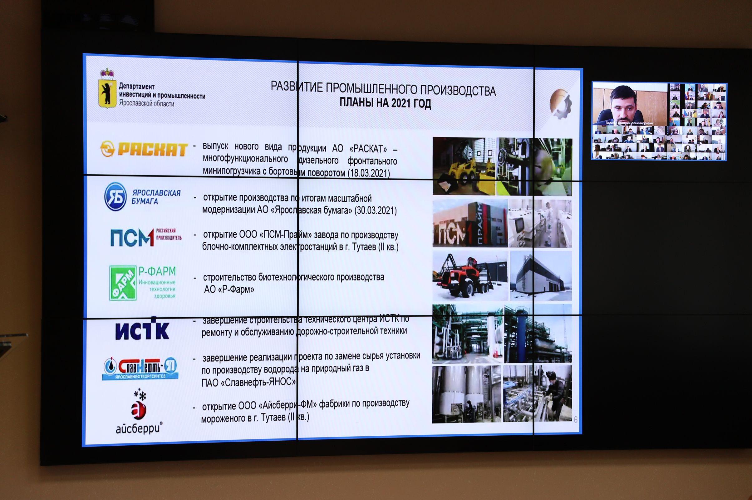 Индекс промышленного производства в Ярославской области выше среднероссийского