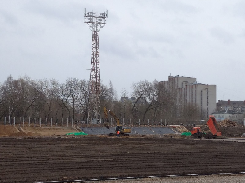 В Рыбинске в мае начнут укладывать новый газон на стадионе «Сатурн»