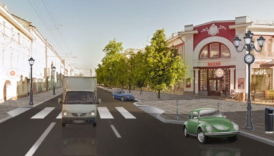 На улице Комсомольской в центре Ярославля расширят тротуар и изменят правила парковки